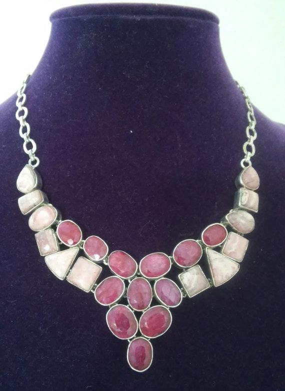 Vintage Boho Rhodochrosite Ruby - jewelsbyvittoria | ello