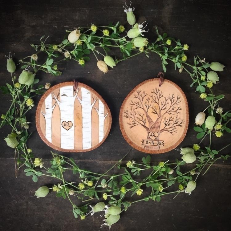 Romantic hearts initials wood b - forageworkshop | ello