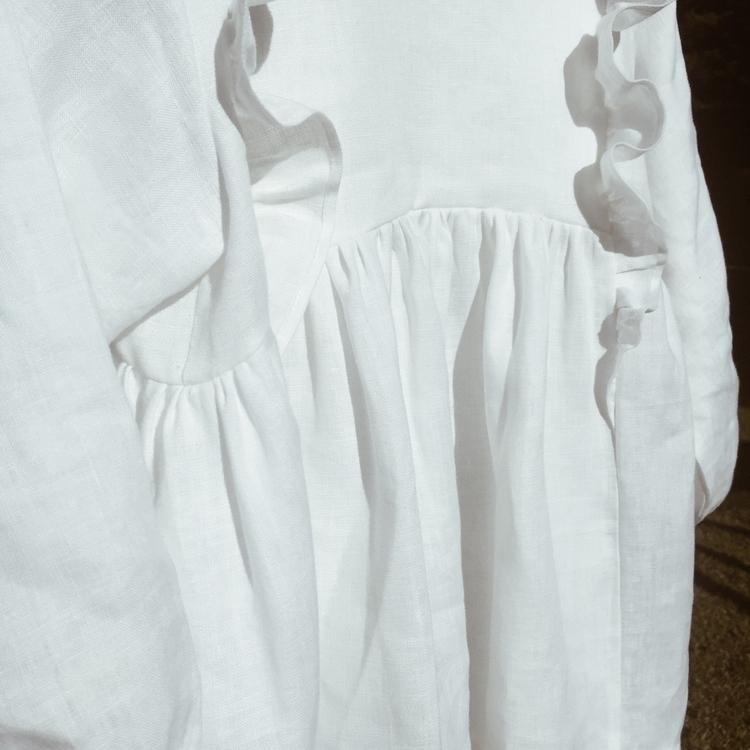 linen ruffle dress hanging pret - thedeerandthedaisy | ello