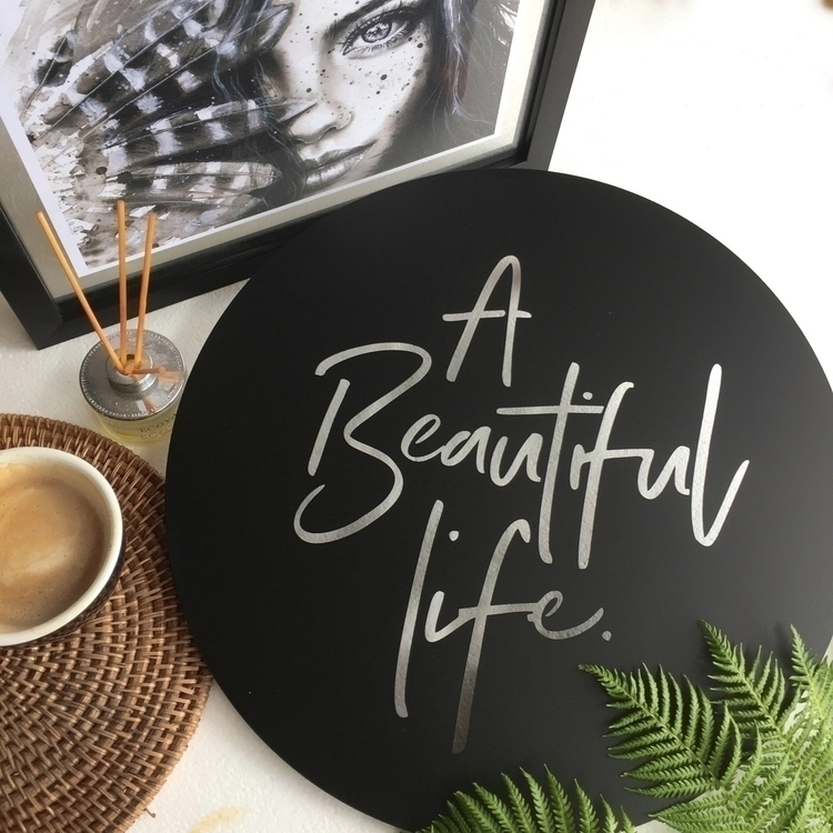 beautiful life Matte black stee - lisasarahsteeldesigns | ello