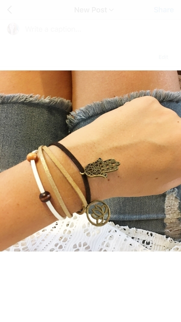 Suede charm bracelets laid - lifestyle - justbedesigns | ello