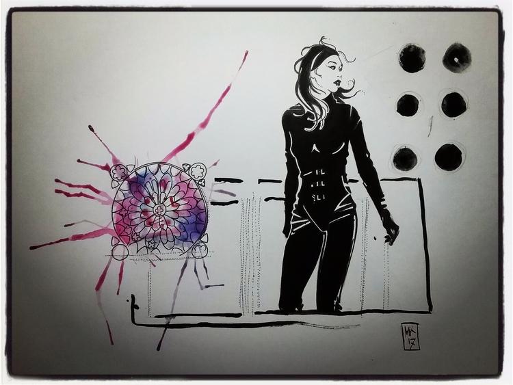 Maggie; inks bristol, 2017 - irmavep - mollykiely | ello