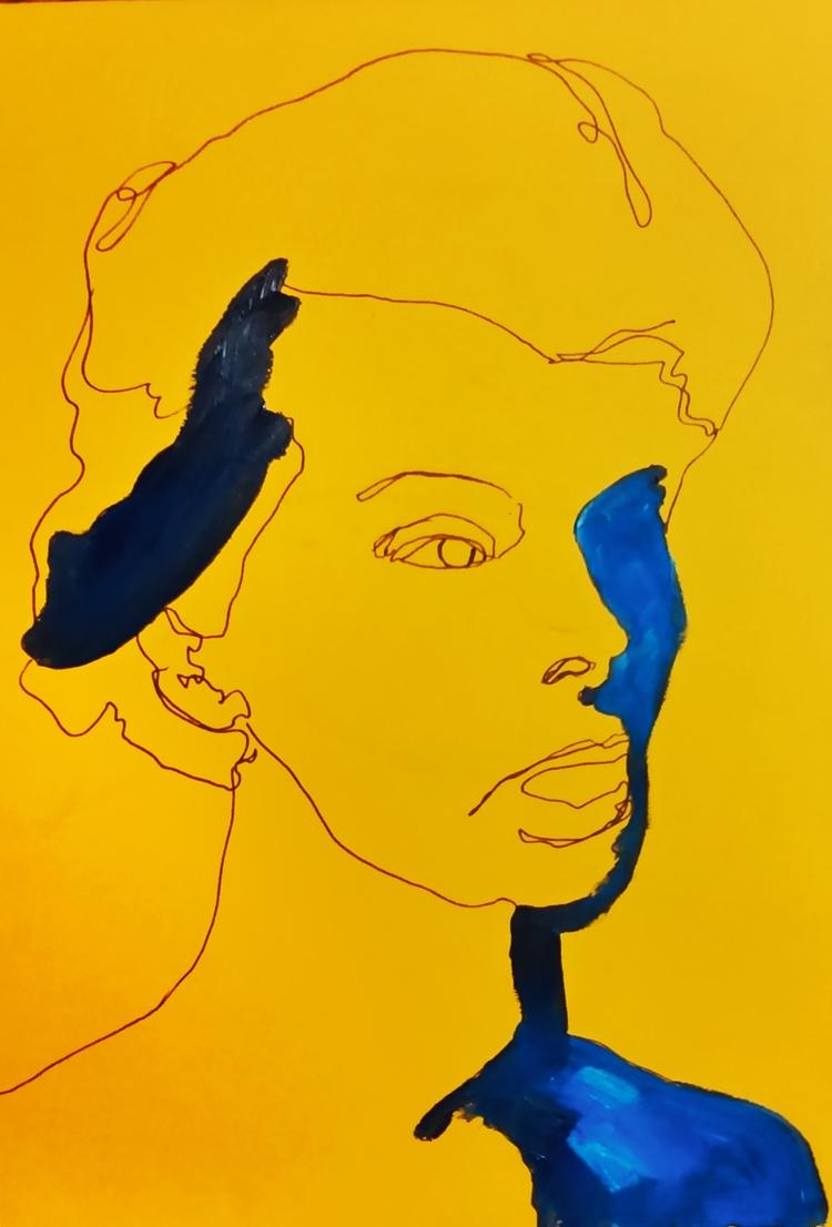 Katherine Hepburn /// *ink oil  - guiart | ello