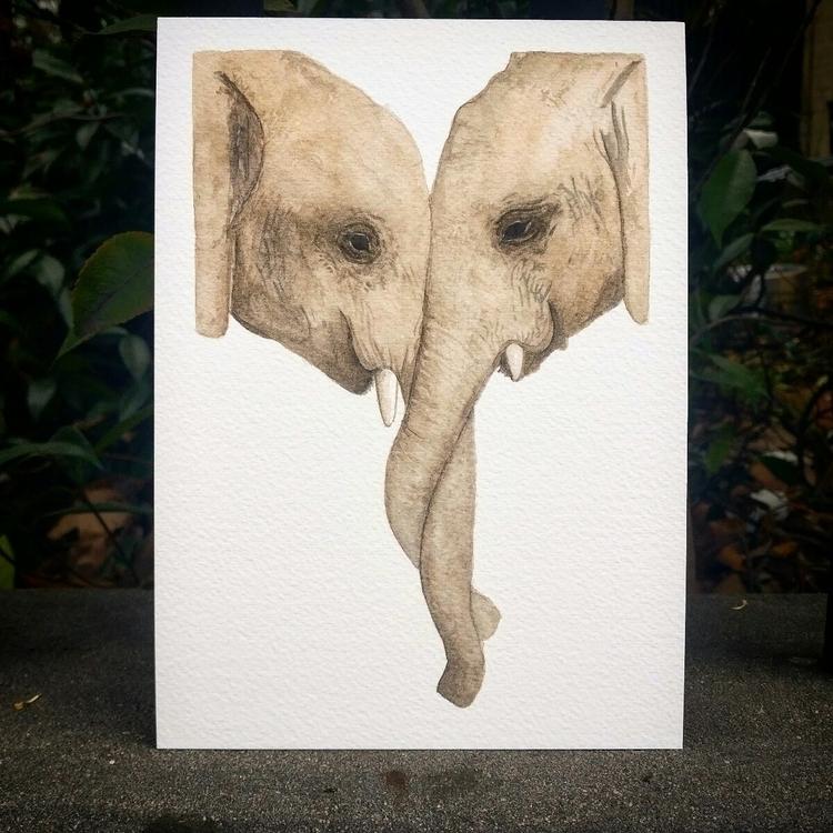 latest piece, elephant mother c - christinacerqueira   ello