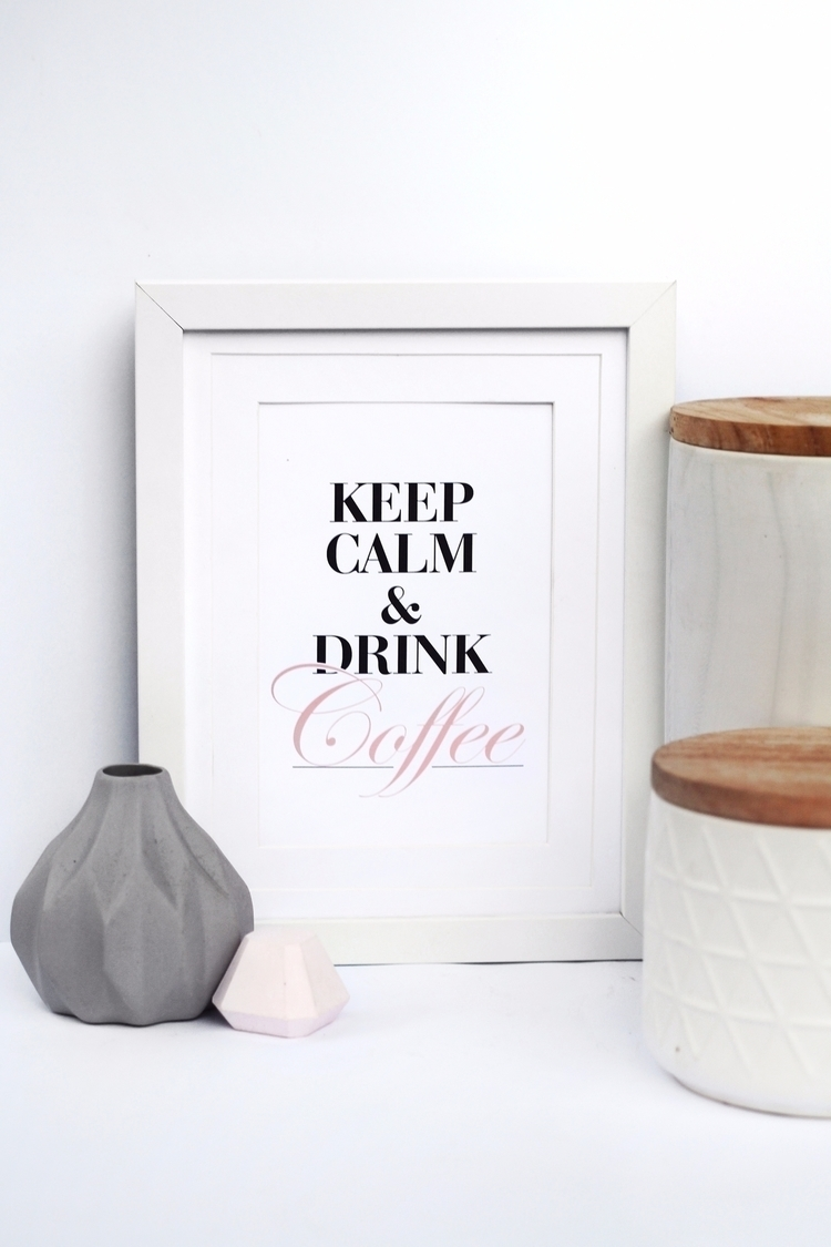 Calm Drink Coffee - prints, wallart - meyouevieprints | ello