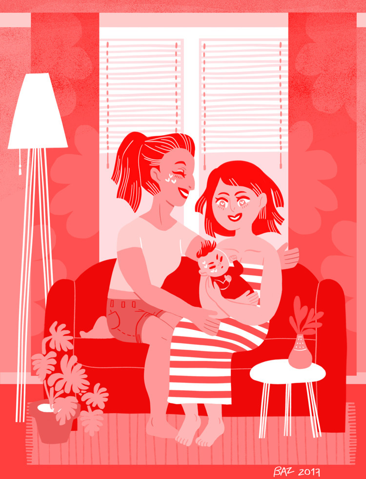 Red - Life. couple moms - lgbt, pride - stbaz | ello