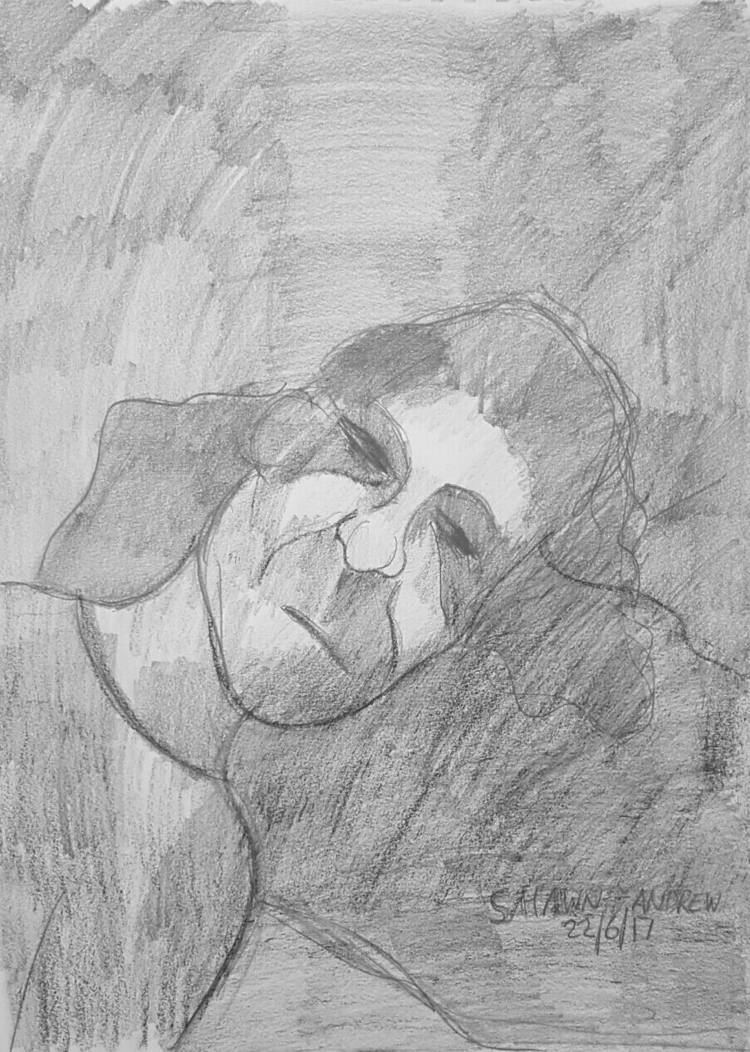 Death - Graphite stick drawing  - shawnartist | ello