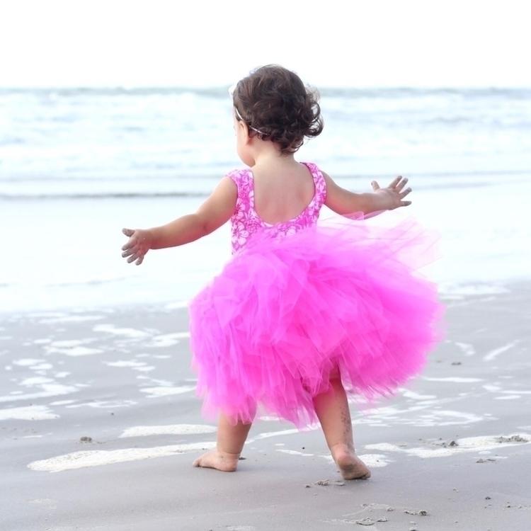 hot pink tutu beach!! color Fin - cinderellabowtique | ello