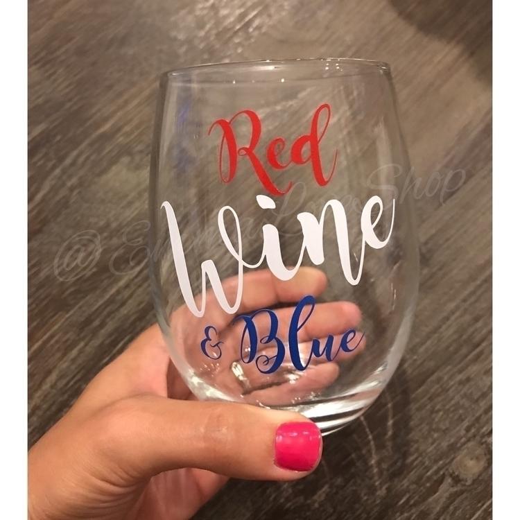 Red, Wine, Blue wine glass Inde - emmaloveshop | ello