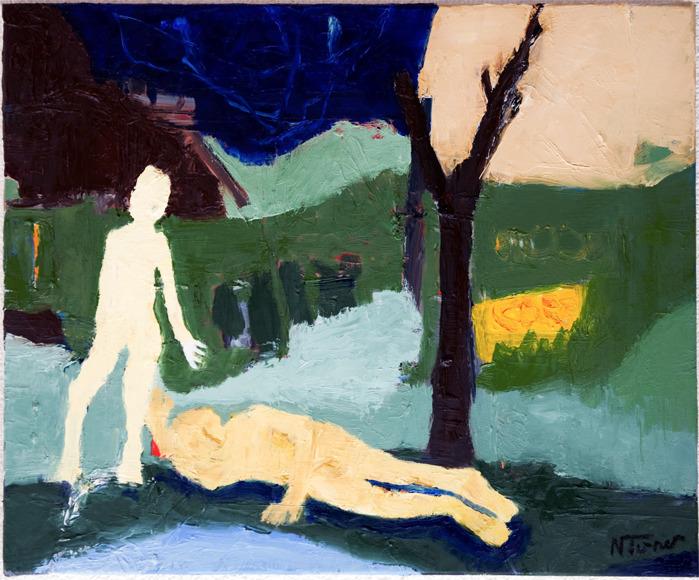 Alice Bob Oil canvas 15 18 inch - nealturner   ello