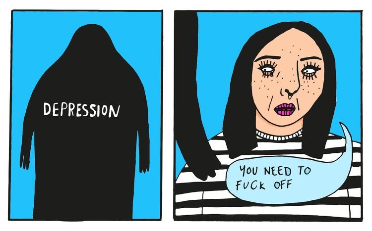 bit personal break, flow - illustration - jessicavaughan | ello
