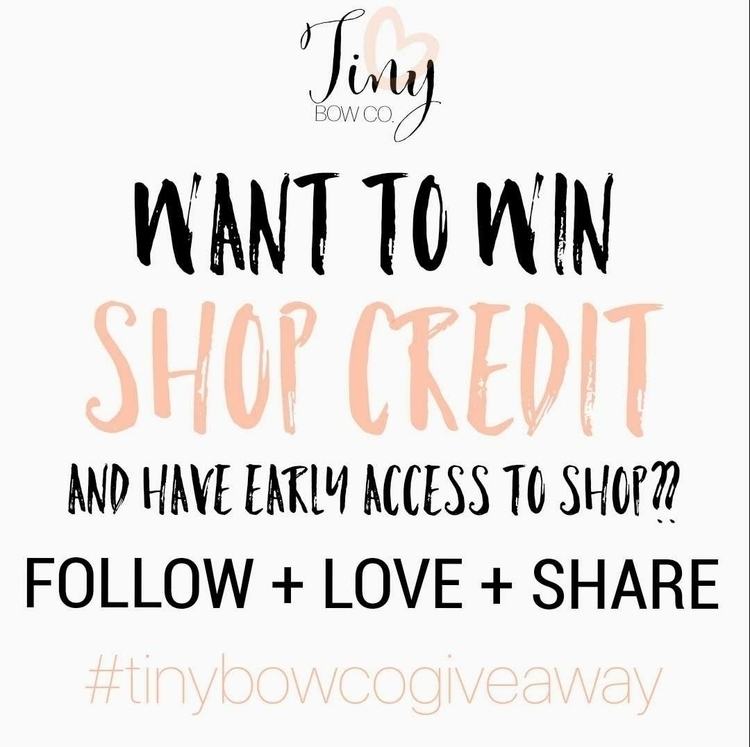giving free bow ($5 shop credit - tinybowco | ello