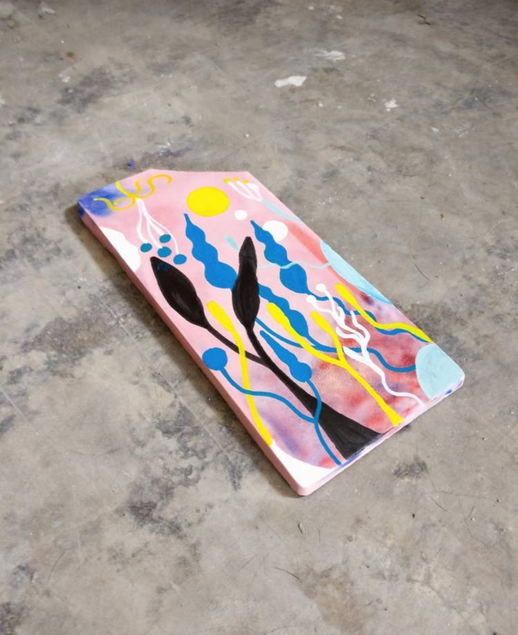 Tile concrete painted acrylics - esdanielbarreto | ello