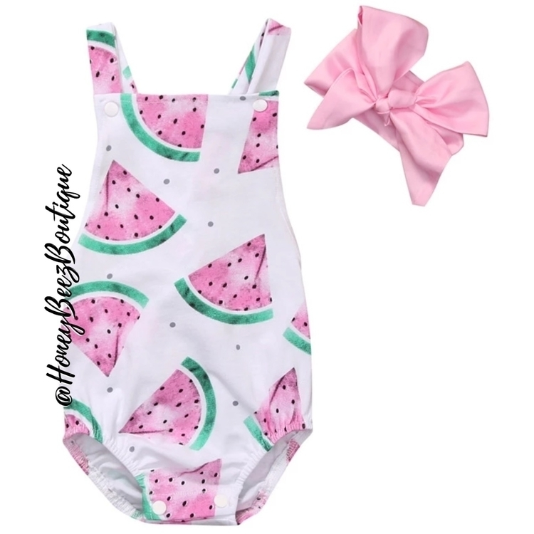 sweet watermelon romper Check d - honeybeezboutique | ello