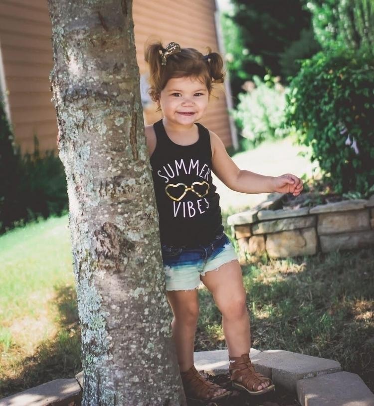babe wearing Baja shorties shop - littleenvythreads | ello