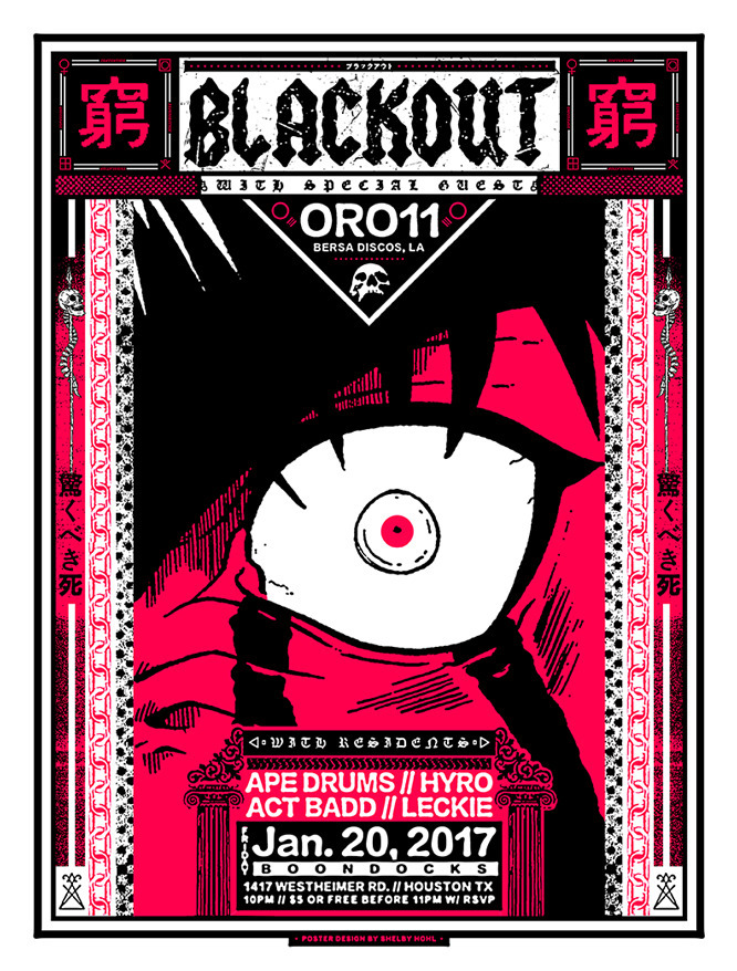 Poster design monthly Blackout  - shelbyhohl   ello