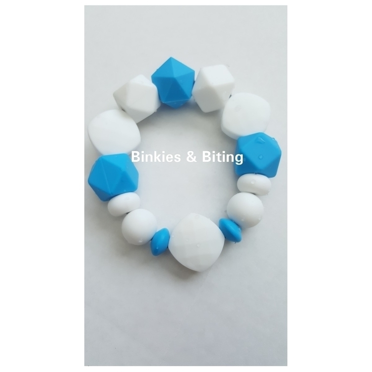 Turquoise White Teething ring - binkiesbiting | ello