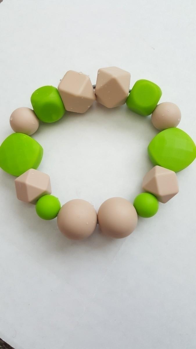 Lime Tan Teething Ring - binkiesbiting | ello