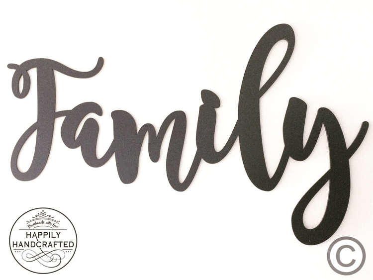Family Pictured black featuring - happilyhandcrafted | ello