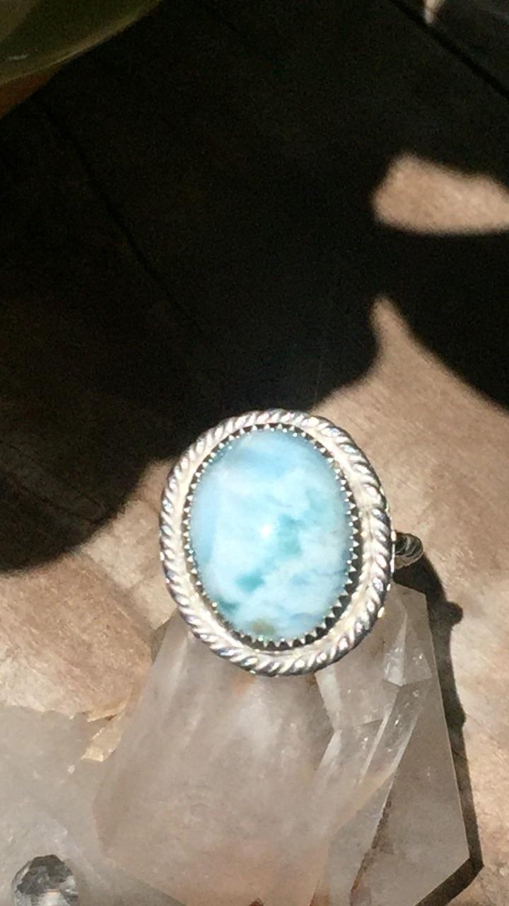 Handmade Larimar rings Etsy Mer - mermaidmana | ello