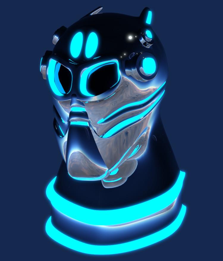 3d, art, 3dart, futuristic, helmet - solutuminvictus   ello