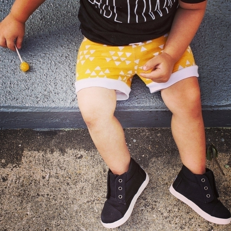 Yellow Aztec Shorties - smallshop - 816kidzapparel | ello