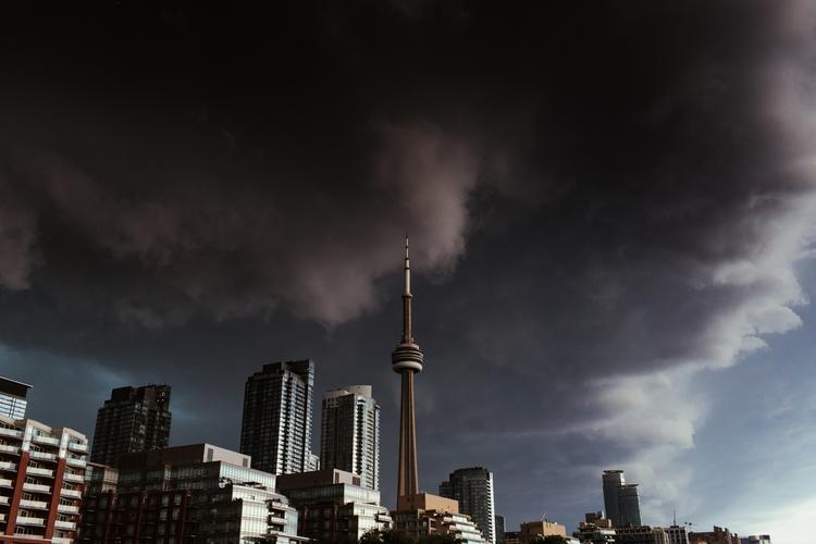 summer storm rolling Toronto - street - matthewneubauer | ello