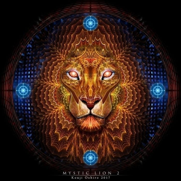 Mystic Lion 2 - lion, mystic, spiritual - koujioshiro | ello