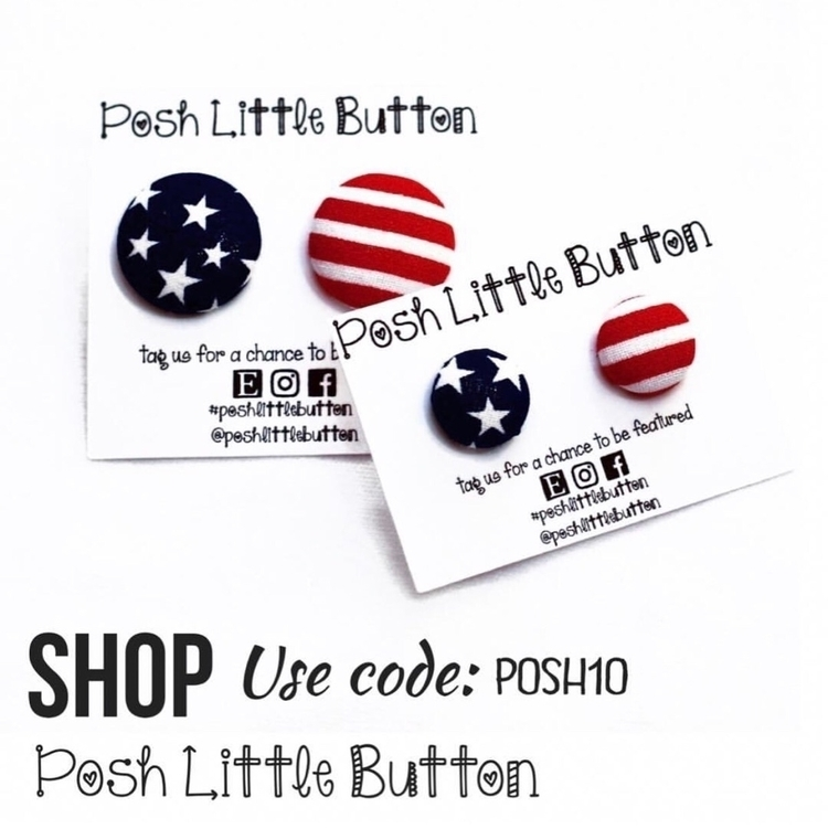 RTS, fourthofJuly, earrings, jewelryblogger - poshlittlebutton | ello