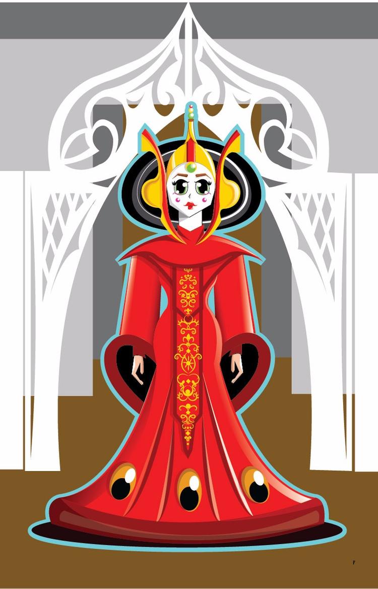 Ilustración Vectorial / Amidala - terrecmat | ello