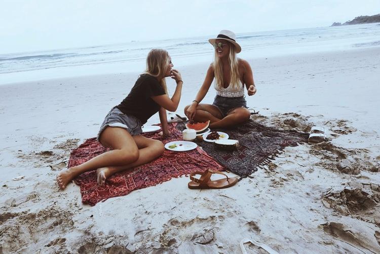 PicsArt - breakfast, girls, beach - picsartphotostudio   ello