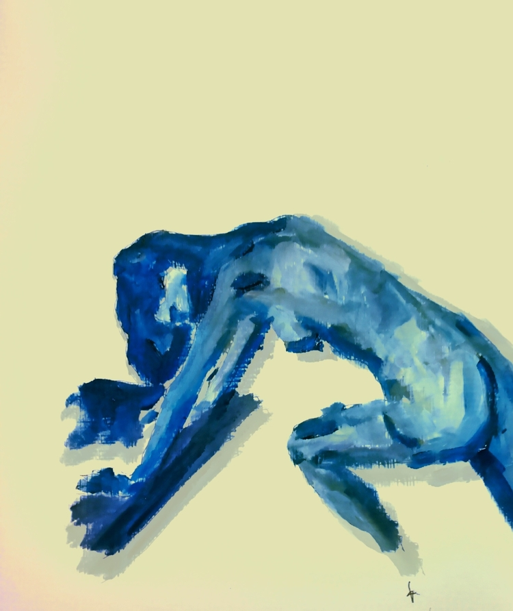 Stretching ///// *oil paper - art - guiart | ello
