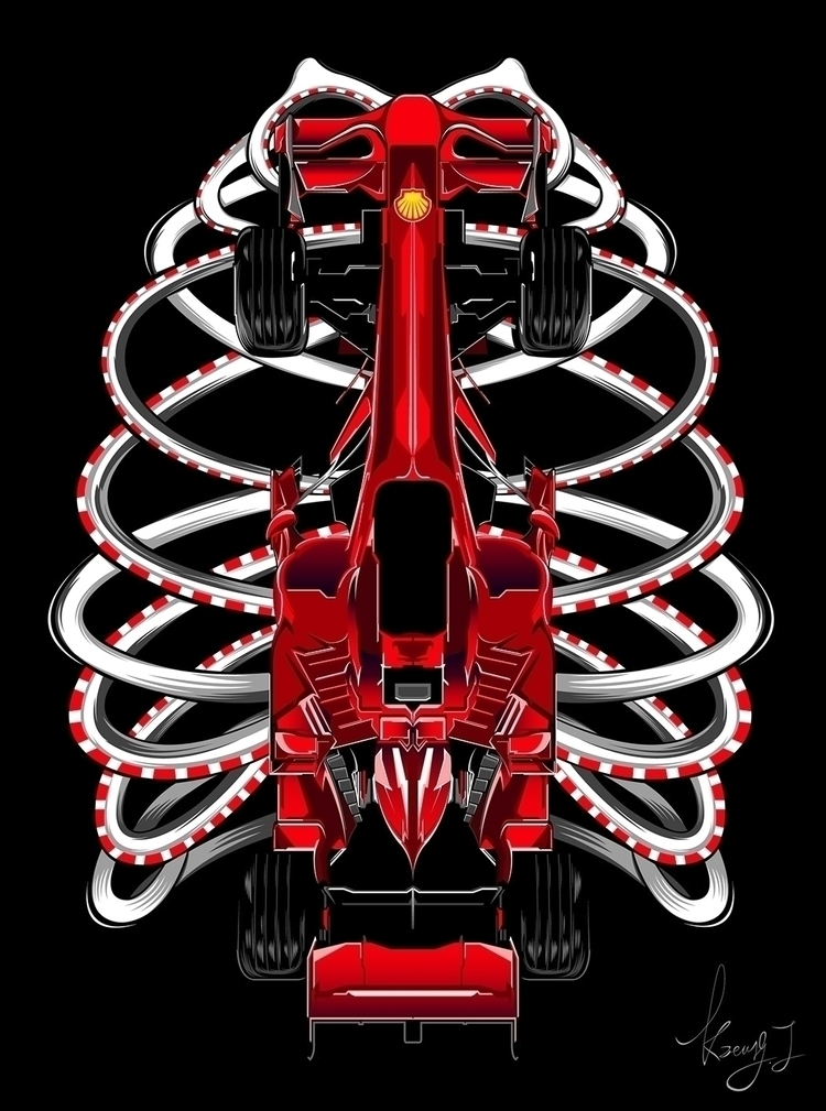 F1 Skeleton - DigitalDecadeCyberia#kzengjiang - kzengjiang | ello