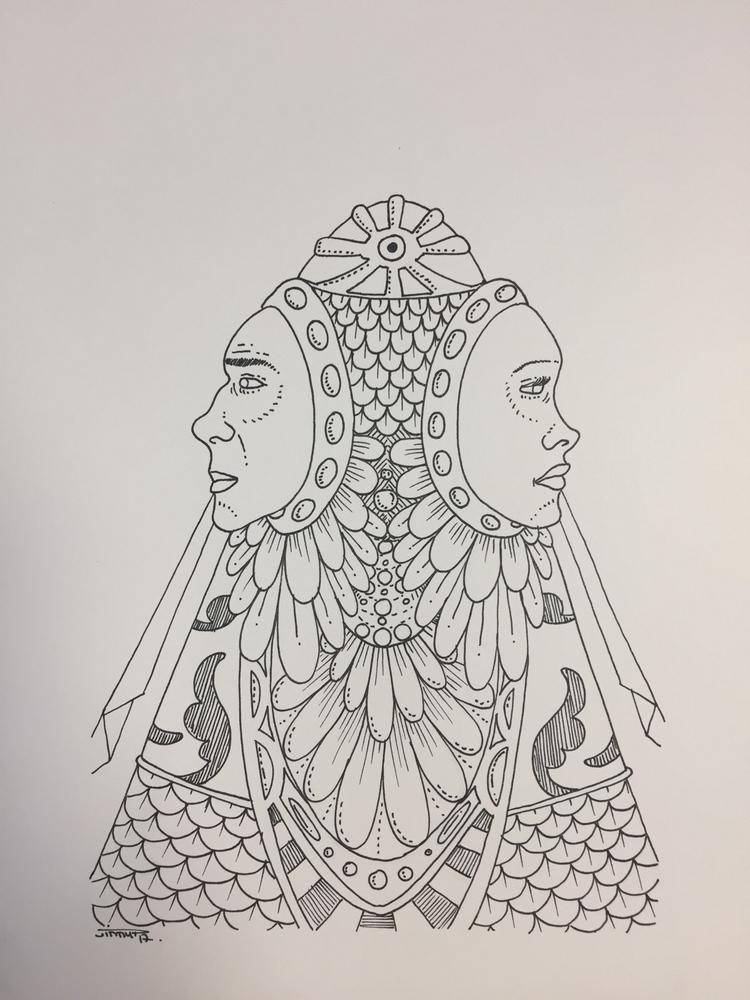Double Shaman - illustration, drawing - jimmy-draws   ello