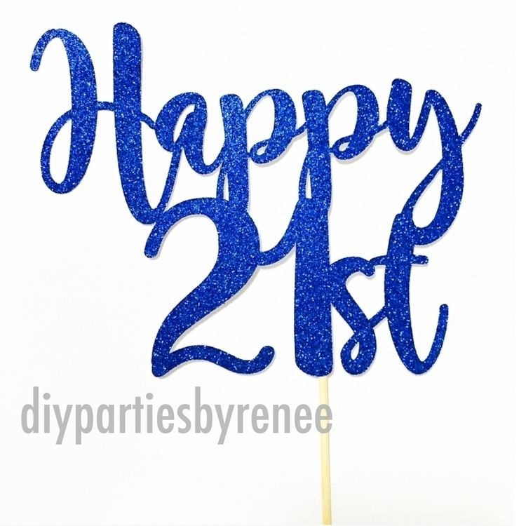 Simple, fun, cake topper perfec - diyparties | ello