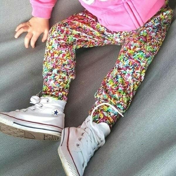 Sprinkles Harem Pants action. s - lullabyriot | ello