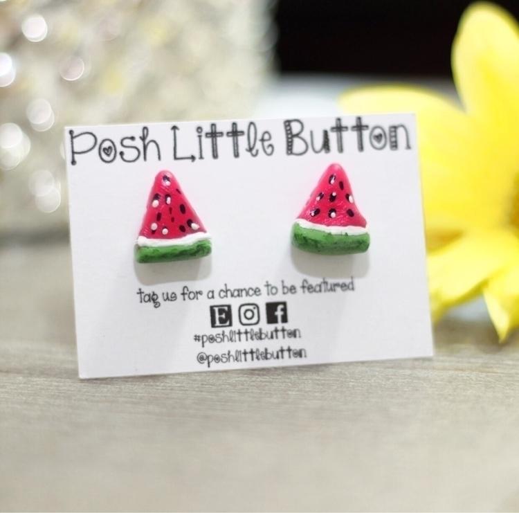 .  - Clay, watermelon, earrings - poshlittlebutton | ello