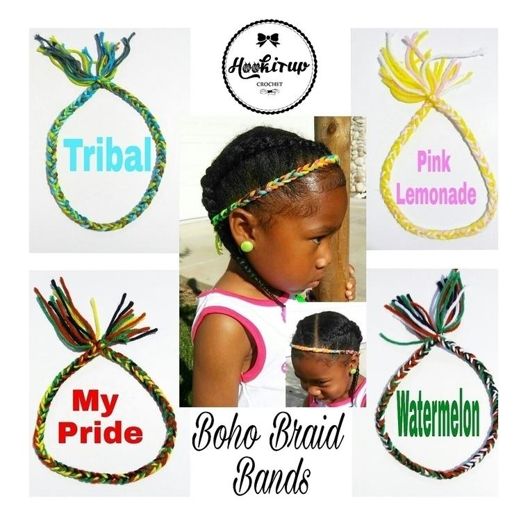 Boho Braid Bands - handmade, boho - hookitupcrochet | ello