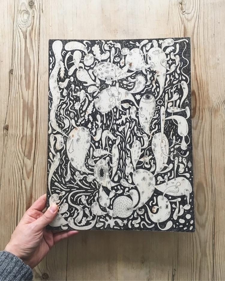 Pen wood monster exhibition Osl - huskmelk   ello