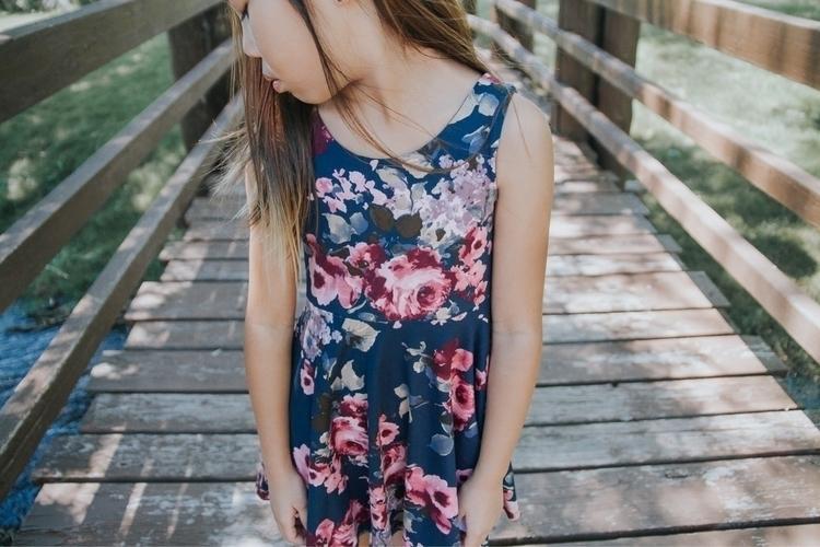 Floral knit twirl dress Teal - czarinasproject - czarinasproject | ello