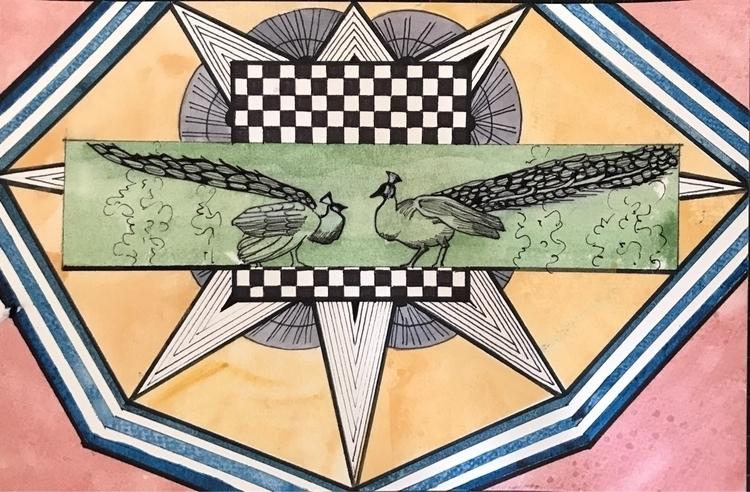 mixedmedia, watercolor, illustration - whitneysanford | ello