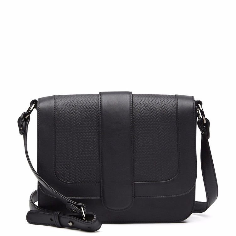 Solstice Shoulder Bag - Black - leather - harlequinbelle | ello