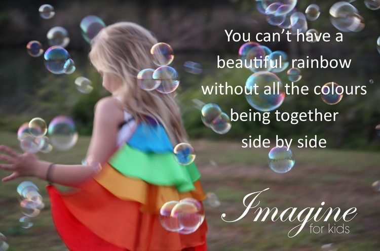 Beautiful satin rainbow wings - dressup - imagineforkids | ello