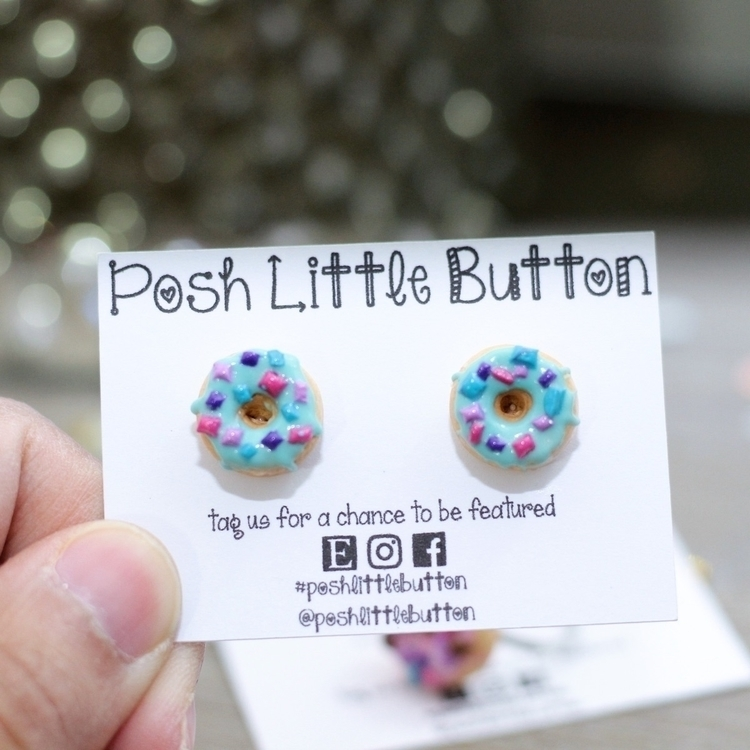donut, earrings!!., jewelryblogger - poshlittlebutton | ello