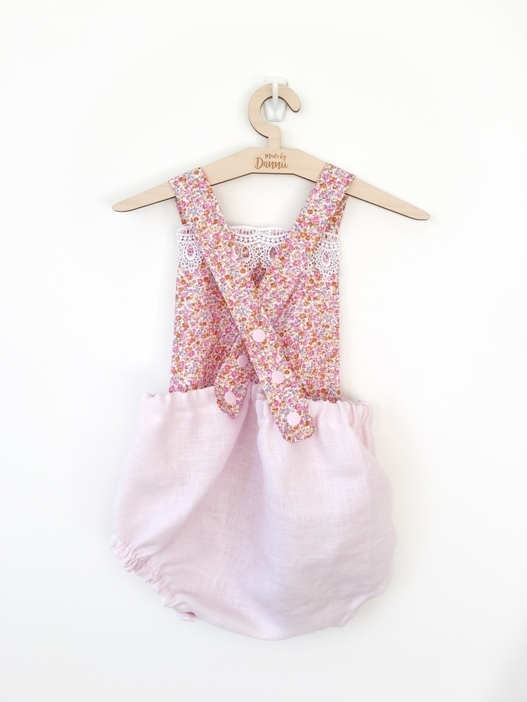 Teeny Tiny Florals, Pink Linen - made_by_dannii   ello