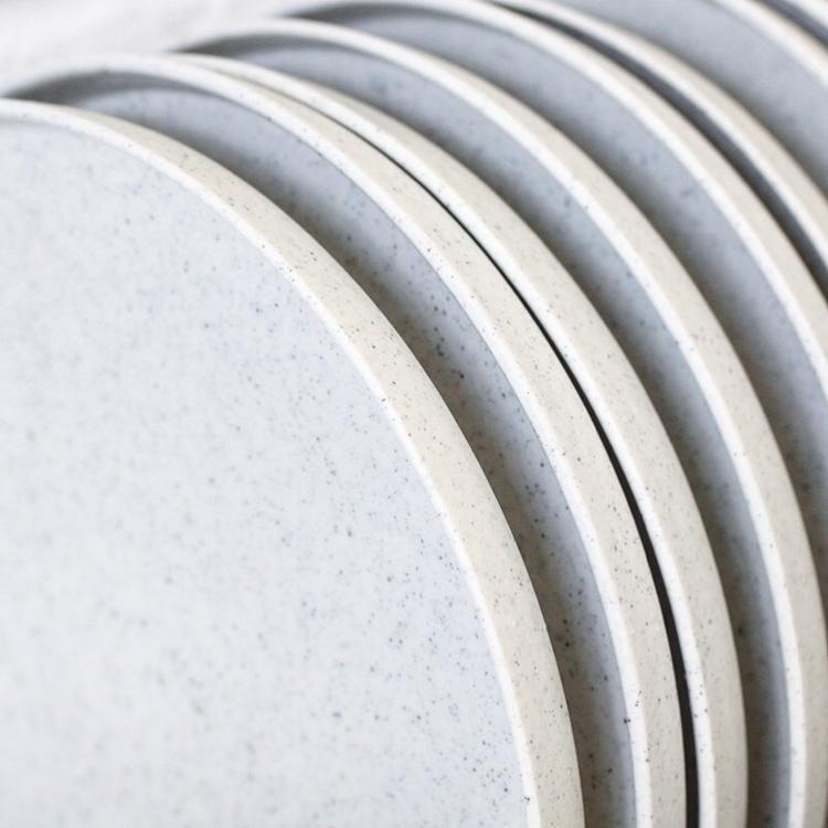 Peppered white porcelain plates - elliottceramics | ello