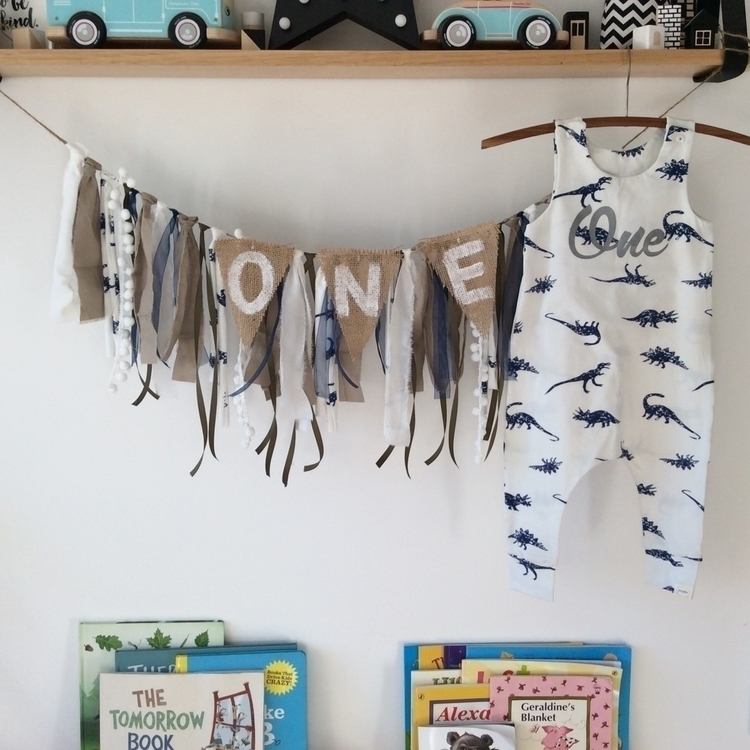Birthday romper garland birthda - pumpkin_and_chunk | ello