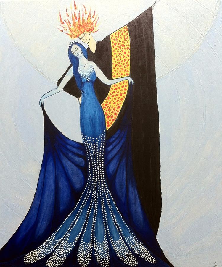 Balance, king Salamanders queen - haleh_creates | ello