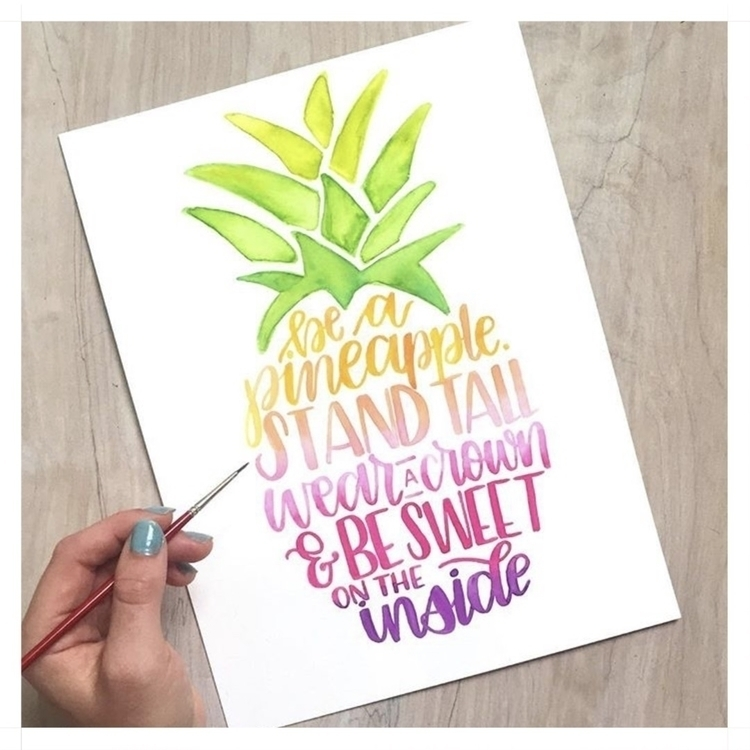 pineapple babe . Stunning paint - figandfletcher | ello