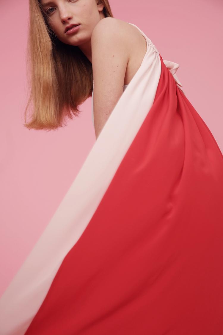 Silk summer dress Color block R - studio163 | ello